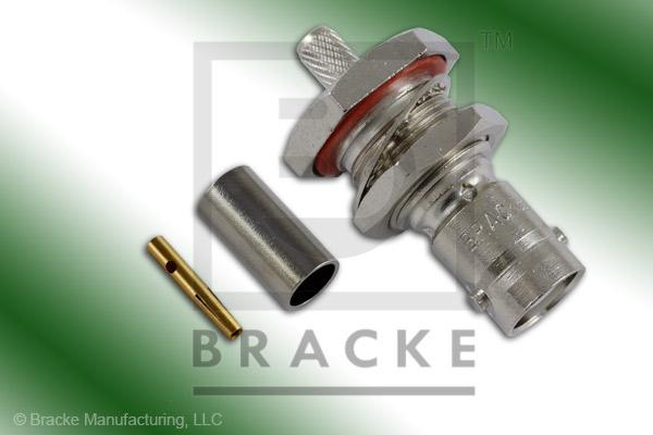MHV Female Bulkhead Connector Crimp LMR-195, RG58, TCOM-195