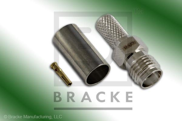 SMA Female Connector Crimp LMR-195, RG58, TCOM-195