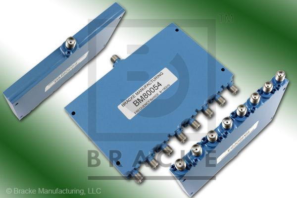 SMA Female Power Divider Frequency Range 8-18 GHz 8 Output Ports, VSWR 1.60:1 Max