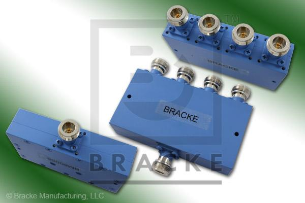 N Female Power Divider Frequency Range 8-12.4 GHz 4 Output Ports, Max VSWR 1.60