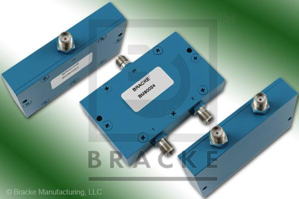SMA Female Power Divider Frequency Range .5-1 GHz 2 Output Ports, VSWR 1.20:1 Max
