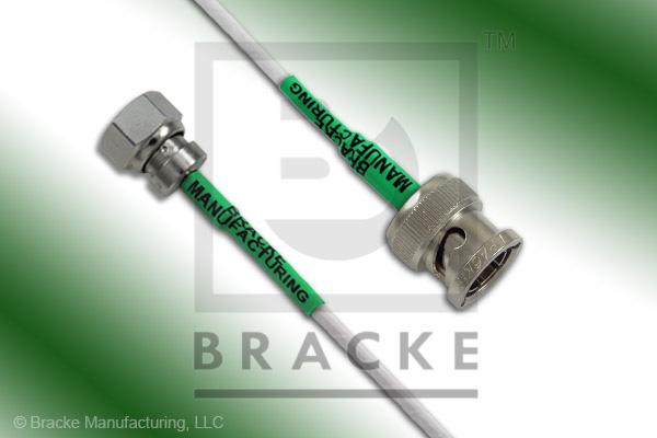 75 Ohm SMC Plug to 75 Ohm BNC Male Cable Assembly RG187A/U