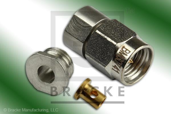 3.5mm Male Connector Solder/Clamp RG405, RG405-Alum, RG405-Flex, RG405-Flex-Jacketed