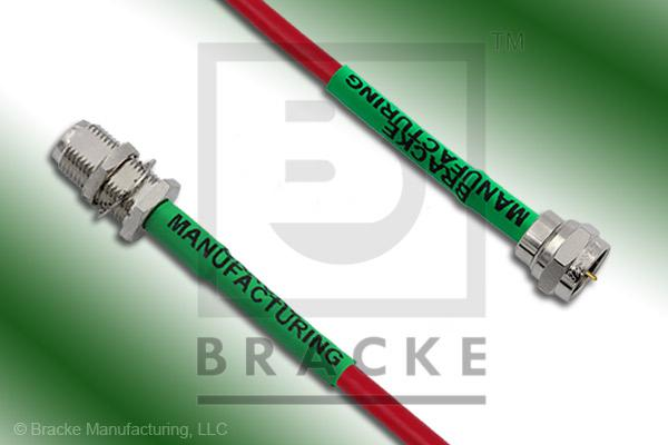F Male to F Female Bulkhead Cable Assembly BM59Mini-Red