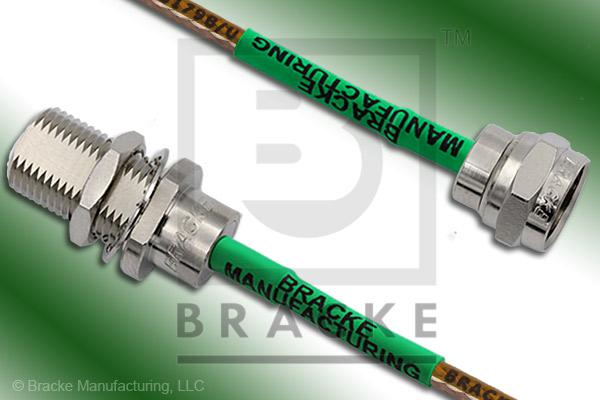 F Male to F Female Bulkhead Cable Assembly RG179B/U