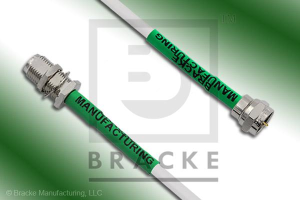 F Male to F Female Bulkhead Cable Assembly BM59Mini-White