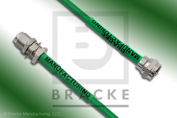 F Male to F Female Bulkhead Cable Assembly BM59Mini-Green