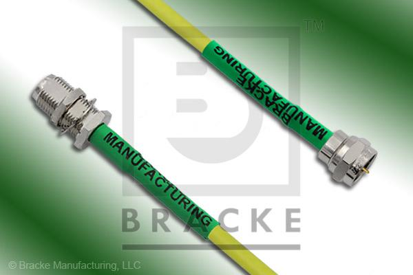 F Male to F Female Bulkhead Cable Assembly BM59Mini-Yellow