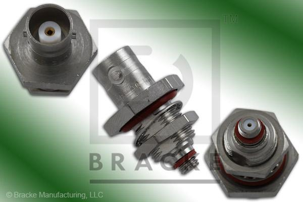 BNC Female to 10-32 Female Bulkhead Mount Adapter