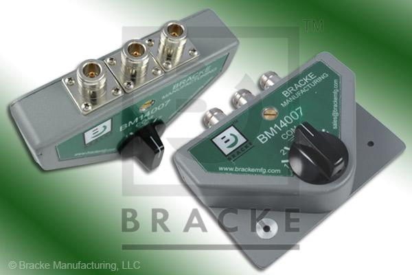 50 Ohm N Female 2 Way Manual Switch with Surge Protection Frequency Range 30 MHz to 1.6 GHz