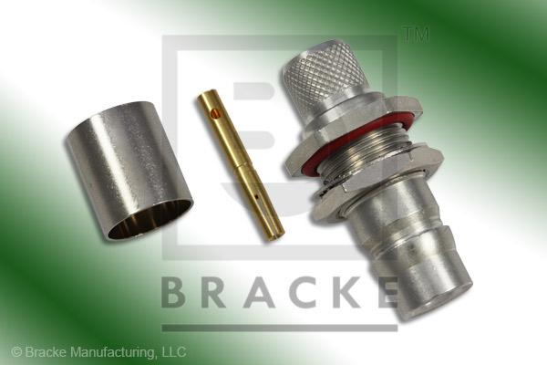 QN Female Bulkhead Connector Crimp RG8, RG213