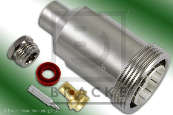 7/16 DIN Female Connector Solder/Clamp RG402, RG402-Alum, RG402-Flex, RG402-Flex-Jacketed