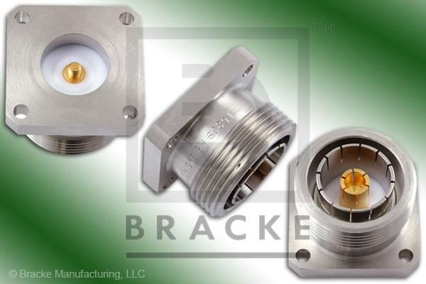 "7/16 Din Female 1.250"" Panel Mount Connector With Threaded Contact"