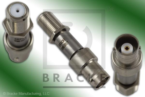 50 Ohm BNC Female to 75 Ohm F Female Matching Pad DC-3 GHz, Max VSWR 1.25:1