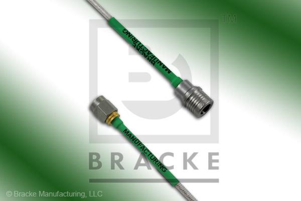 QMA Male to SMA Male Cable Assembly RG405-Flex