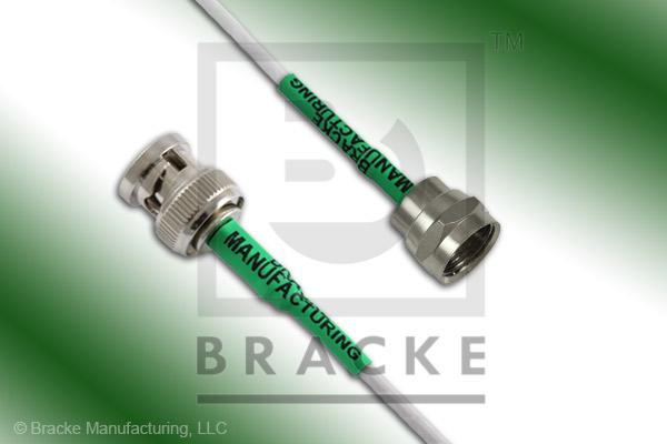 F Male to 75 Ohm BNC Male Cable Assembly RG187A/U