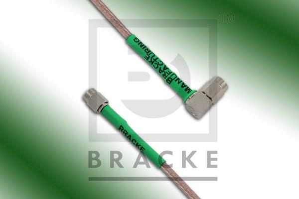 SSMA Male to SSMA Male Right Angle Cable Assembly RG316-Double