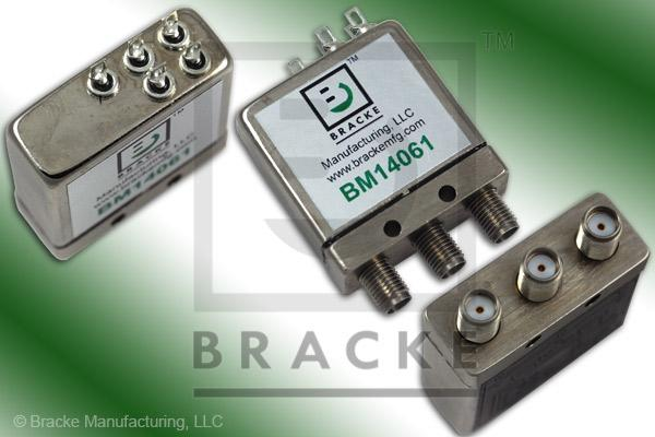 SMA Female SPDT Relay Switch Freq. Range .01-18 GHz, 28 Vdc Feature: Failsafe & Indicators