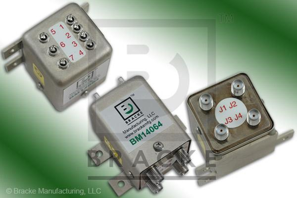 SMA Female Transfer DPDT Switch, DC-18 GHz 12 Vdc Features:Self Cutoff,Latching,Indicators