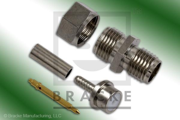 Reverse Polarity SMA Female Connector Crimp RG178, RG196