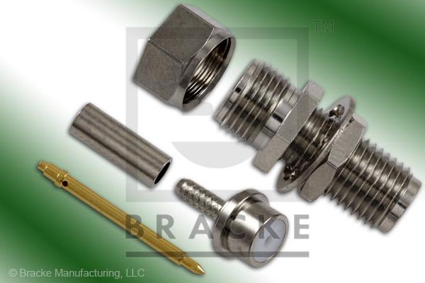 Reverse Polarity SMA Female Bulkhead Connector Crimp RG178, RG196