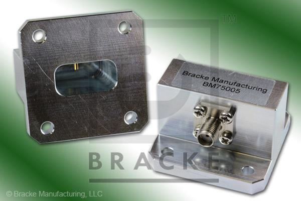 Waveguide to Coax Adapter SMA Female WR-75 Frequency Range 10.00-15.00 GHz