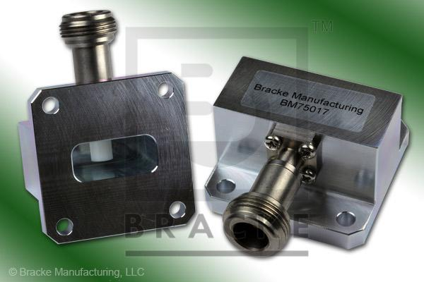 Waveguide to Coax Adapter N Female WR-90 Frequency Range 8.20-12.40 GHz