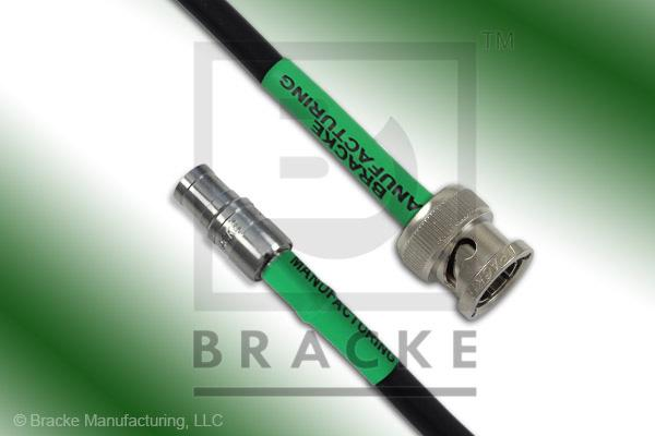 Mini 75 Ohm SMB Plug to 75 Ohm BNC Male Cable Assembly RG59B/U