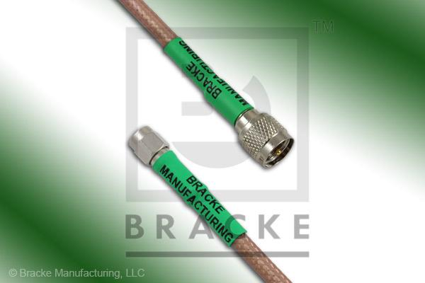 Mini UHF Male to SMA Male Cable Assembly RG142B/U