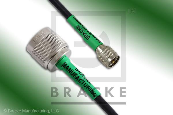 Mini UHF Male to N Male Cable Assembly RG58C/U