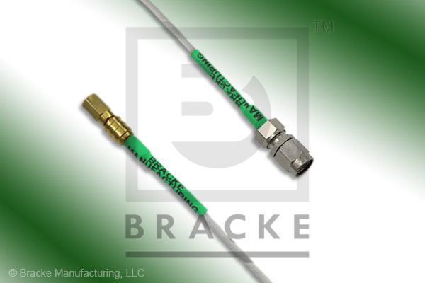 SSMC Plug to SMA Male Cable Assembly RG196A/U