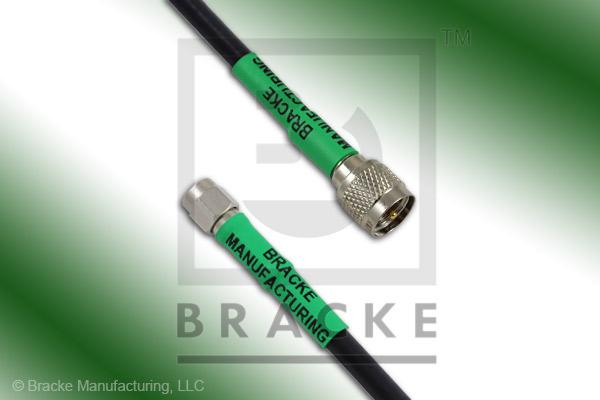 Mini UHF Male to SMA Male Cable Assembly RG58C/U