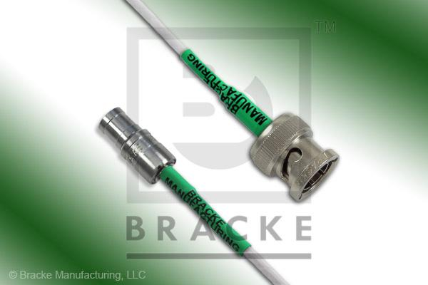 Mini 75 Ohm SMB Plug to 75 Ohm BNC Male Cable Assembly RG187A/U