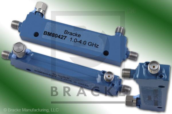 SMA Female Broadband Directional Coupler, 1-4 GHz Coupling 10 dB +/- 1.00 dB