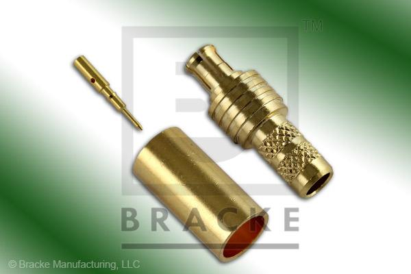 MCX Plug Connector Crimp LMR-195, RG58, TCOM-195