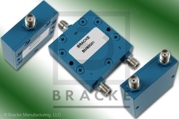 SMA Female Power Divider Frequency Range 1-2 GHz 2 Output Ports, VSWR 1.25:1 Max