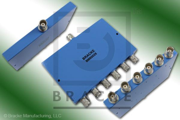 BNC Female Power Divider Frequency Range 1-175 MHz 6 Output Ports, VSWR 1.50:1 Max