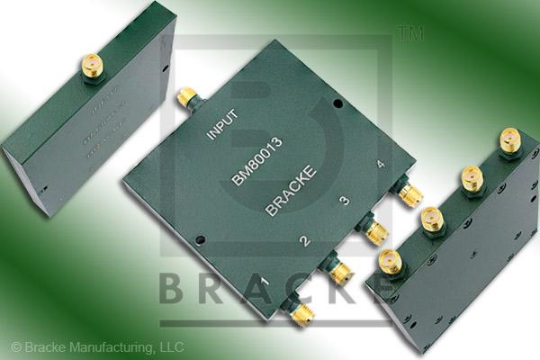 SMA Female Power Divider Frequency Range 1-2 GHz 4 Output Ports, VSWR 1.25:1 Max