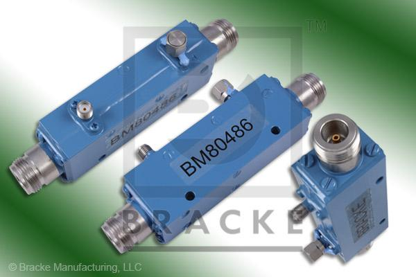 N Female High Power Directional Coupler, Freq. Range 2-8 GHz, Coupling 30 +/- 1.00dB