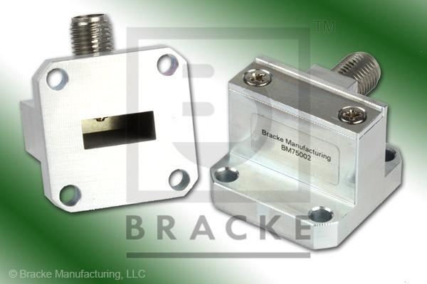 Waveguide to Coax Adapter 2.92mm Female WR-42 Frequency Range 18.00-26.50 GHz