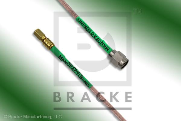 SSMC Plug to SMA Male Cable Assembly RG316/U