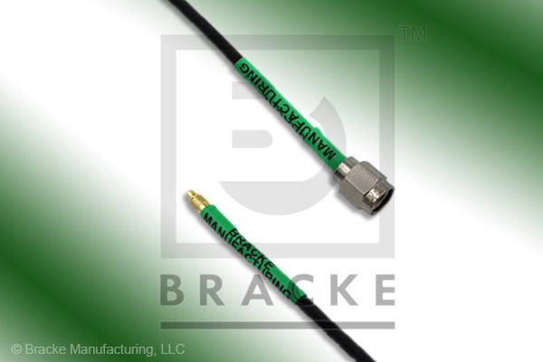 MMCX Plug to SMA Male Cable Assembly RG174A/U