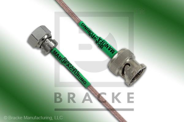 75 Ohm SMC Plug to 75 Ohm BNC Male Cable Assembly RG179B/U