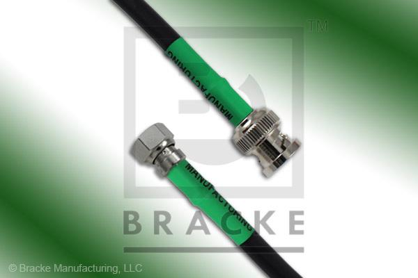 75 Ohm SMC Plug to 75 Ohm BNC Male Cable Assembly RG59B/U