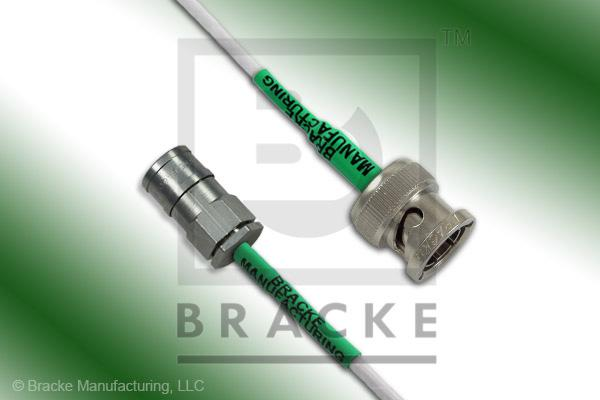 75 Ohm SMB Plug to 75 Ohm BNC Male Cable Assembly RG187A/U