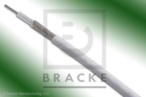"50 Ohm, RG188A/U Bulk Cable, PTFE Jacket, .105"" Dia. 1 Shield, Stranded Center Conductor .0201"""