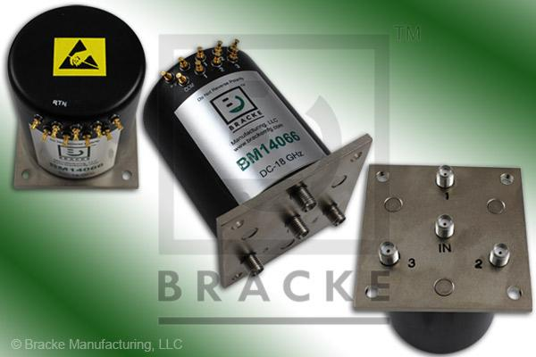 SMA Female SP3T Relay Switch 18 GHz Features:Terminated TTL Indicators, Normally, Suppression Diode