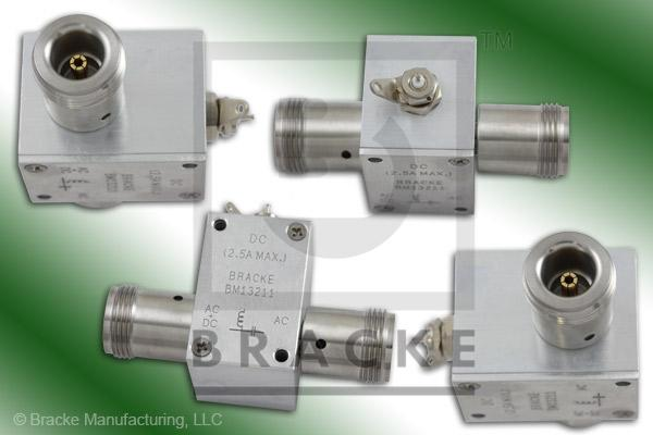 N Female Bias Tee Solder Lug & Pin Freq. 10MHz-2.5GHz, 2.5 Amps, 100 Volts