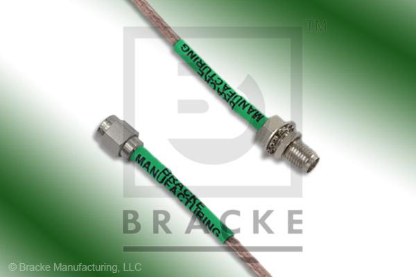 SMA Female Bulkhead to SMA Male Cable Assembly RG316-Double