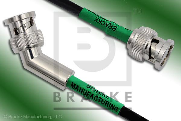 BNC Male 45 Degree to BNC Male Cable Assembly RG58C/U